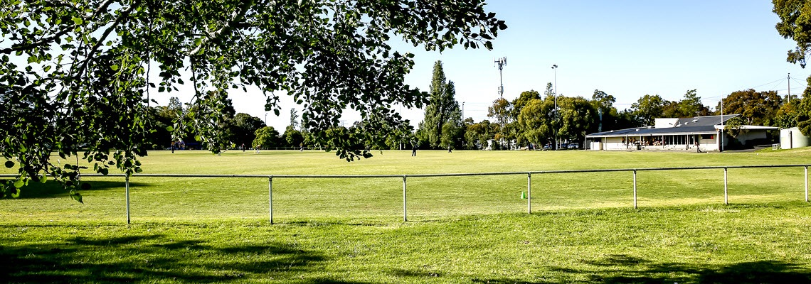 View across Waverley Park oval