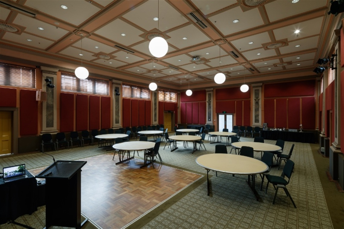 Malvern-Town-Hall-Banquet-Hall-Tables-and-Stage